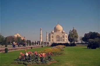 The Garden at Taj Mahal