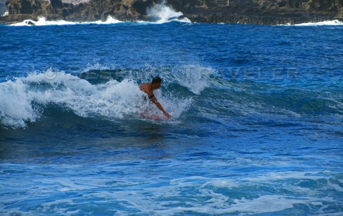 Surfing Oahu