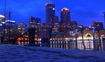 Boston Harbor Night