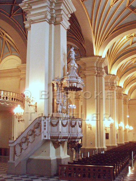 Lima Cathedral Pulpit